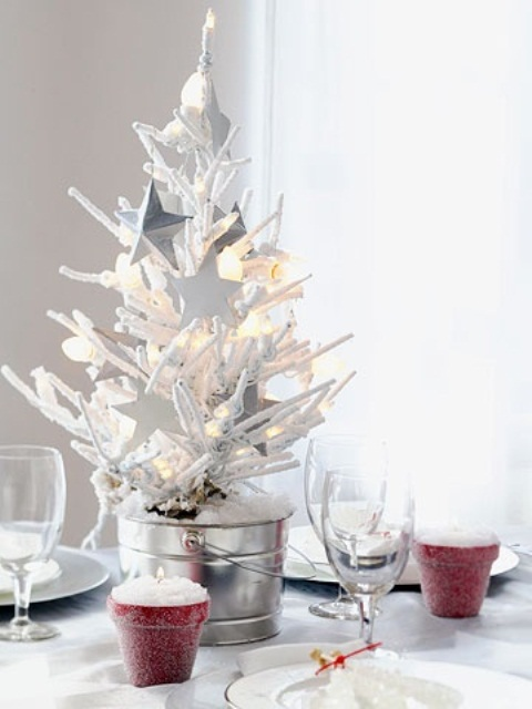 Elegant White Table Top Christmas Tree – HomesFeed