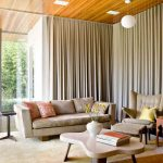 Extra Long Curtain Rods For Awesome Family Room Ideas With Superb Sofa And Armchairs With Stools Plus Decorative Coffee Table
