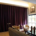 Extra Long Curtain Rods For Wall Covering In Purple Scheme Together With Shopisticated Living Room With Beige Sofa And Square Wooden Table