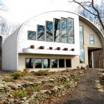 glamorous quonset hut homes with stunning glass window ideas and white painted wall