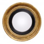 golden and brown small convex mirror for creating traditional outlook of h