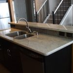 gorgeous kashmir white granite countertops for kitchen with stainless steel faucet and sink