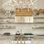 gorgeous pantyr shelving system idea with stainless steel shelves and industrial accent and modern cooking tools