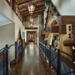 gorgeous wooden house loft idea with traditional railing and wooden floor and industrial pendant beneath wooden ceiling