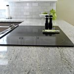 kashmir white granite countertops for contemporary kitchen ideas together with subway tile backsplash