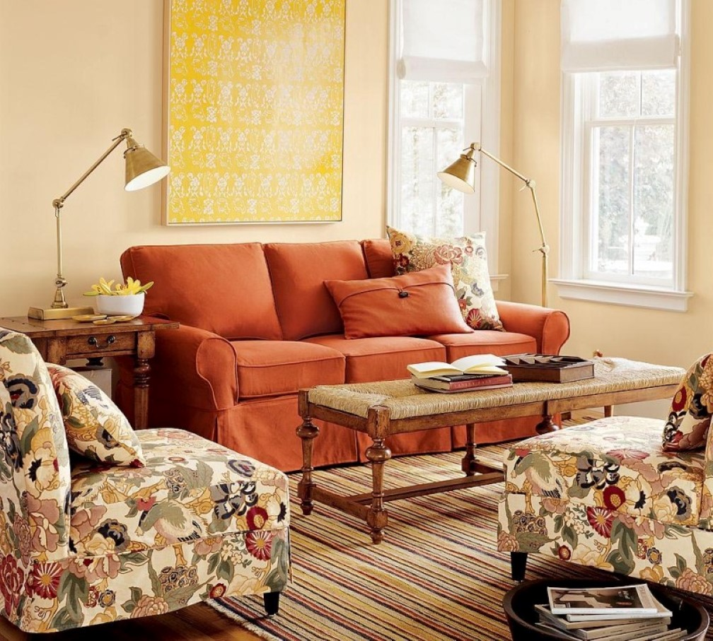 How To Adorn Your Interior With Orange Sofa Homesfeed