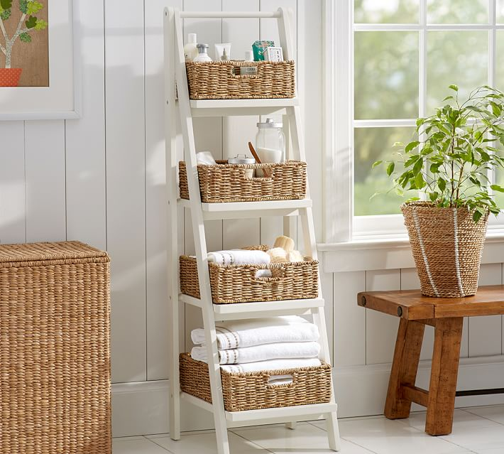 Nice Ladder Shelves At Pottery Barn Homesfeed
