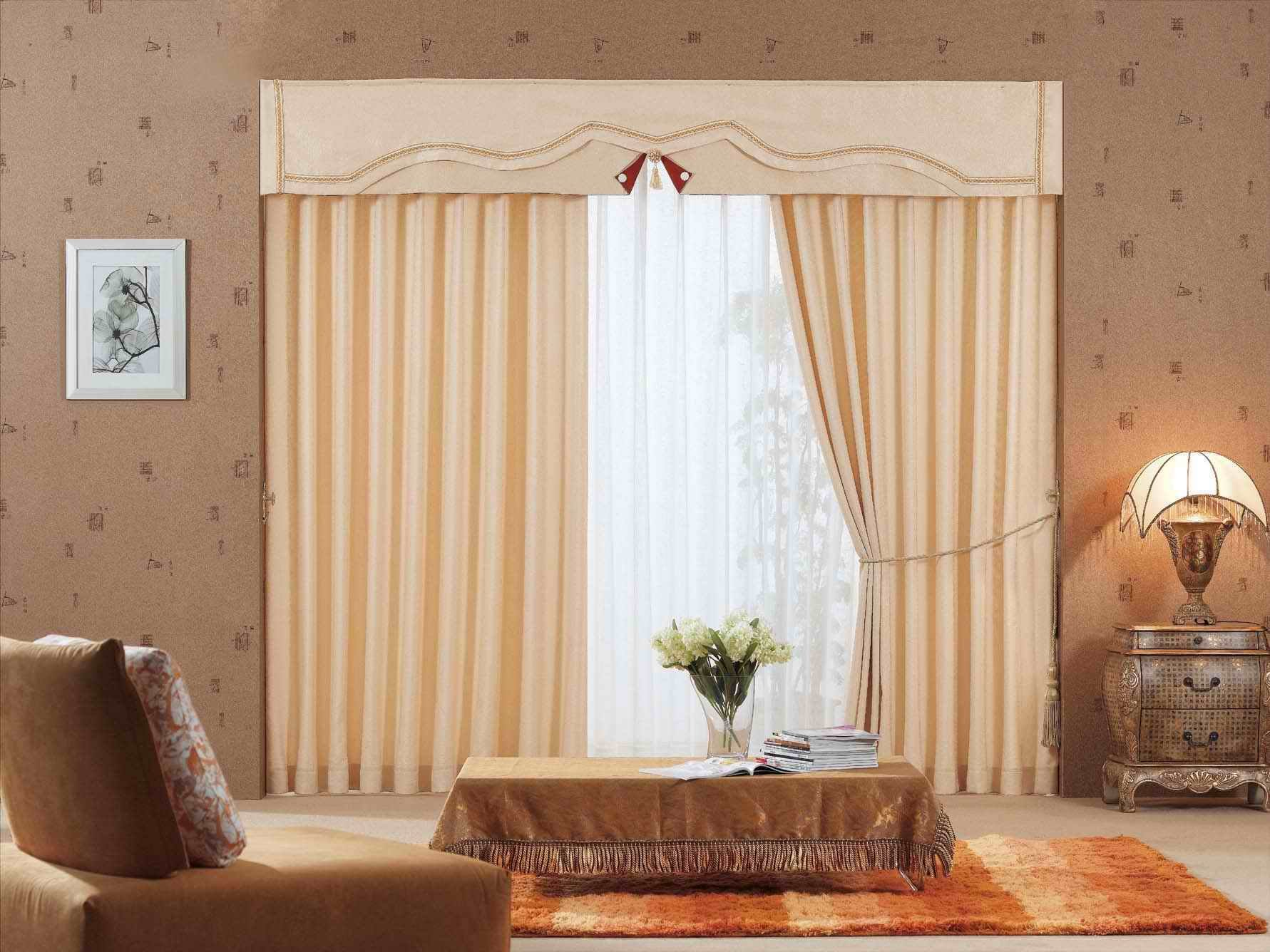 Wide Window Treatments For Creating A Tempting Visage In