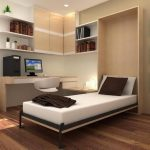 modern bedroom dsign with wall storage and picture targer and white murphy bed kit lowes and wooden floor