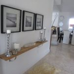 modern wooden floating console table ikea design beneath wall picture target with candelabrum