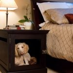 Nice Dog Crates With Modifying A Nightstand The Base For The Dog House While The Top Used As A Nightstand For Table Lamp And Books
