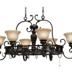 pot rack with lights in classic design made of bronze for every kitchen space