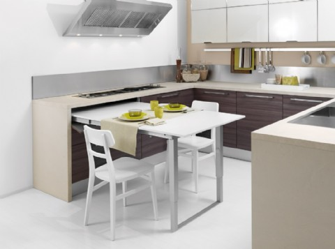 kitchen island with pull out table space saving kitchen island with pull out table homesfeed 27109