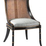 rustic cane back dining chair in black finish with comfy backs and cozy upholstery for dining room decorating ideas