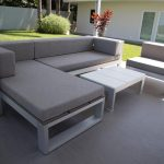 Sectional Sofa Clearance For Patio In Minimalist Design With Super Comfy Upholstery And White Wooden Table