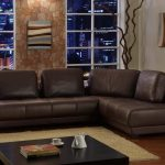 sectional sofa clearance in modern design with brown rug and square coffee table together with stunning wooden table and memmerizing wall