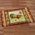 simple rooster kitchen rugs with impressive picture of rooster and flowers on wooden floor