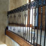 simple wrought iron stair railings interior with wood on its bottom for wonderful home ideas