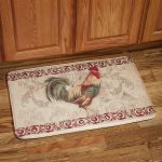 Sophisticated Rooster Kitchen Rugs Decorated On  Beautiful Wooden Floor