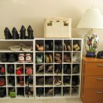 stunning crowd shoe storage in the entry with long slots and small storage aside brown dresser with table lamp