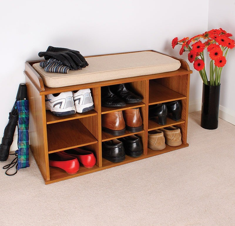 Shoe Storage In The Entry Stylish Shelving Idea Homesfeed