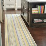 stunning rainbow gray yellow kitchen rug and mat design with wooden floor aside kitchen cart
