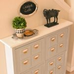 stunning white small console table for hallway with topiary decoration and drawers