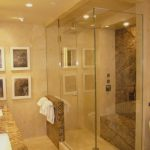 stylish shower ideas for master bathroom with classy walk in shower and marble wall plus elegant bathroom vanity unite with marble countertop