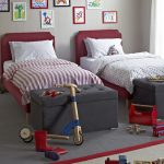 twin red bed frames with red headboards a pair of end bed bench in grey