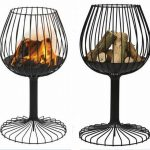 unique and cool fire pit for outdoor in wine glass shape