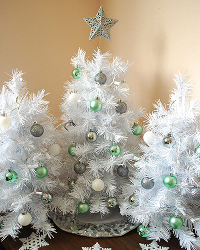 Tabletop White Christmas Tree