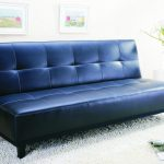 wonderful navy blue  ikea leather couch idea design with convertible style on white furry rug