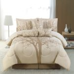 wondrous creamy california king bed comforter set in creamy bedding in open plan room with wooden siding