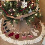 Awesome Brown Color Of Personalized Tree Skirts With Decorative Christmas Tree