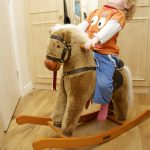 Awesome Brown Wooden Rocking Horses For Toddlers