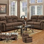 Awesome Classic Reclining Couch And Loveseat Sets With Iron Frame Table Glass Top