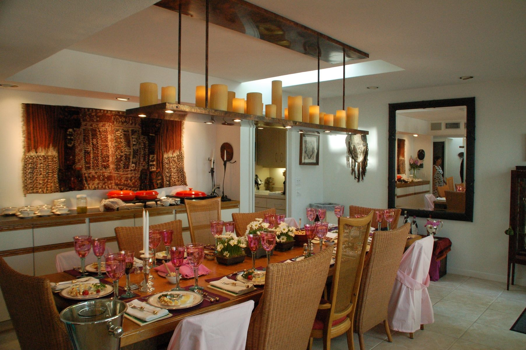 Awesome Dining Rooms From Hulsta: Beautiful Real Candle Chandelier