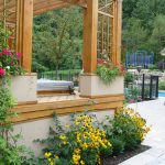 Awesome Large Planters For Outdoors With Wooden Frame Gazebo