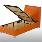 Awesome Orange Twin XL Bed Frame Ikea With Storage