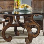 Awesome Pedestal Table Base For Glass Top With Round Shape And Best Wood