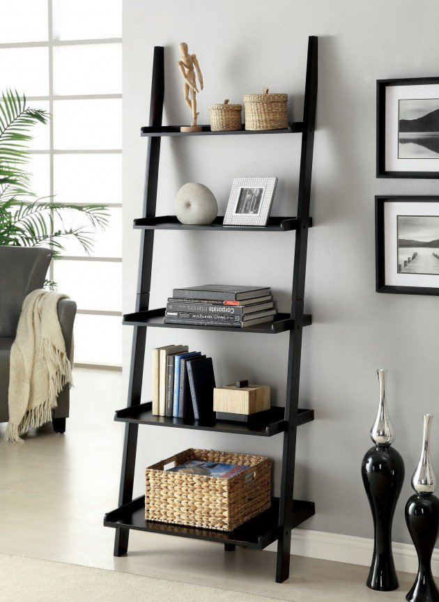 Unique Ladder Shelving Unit Homesfeed