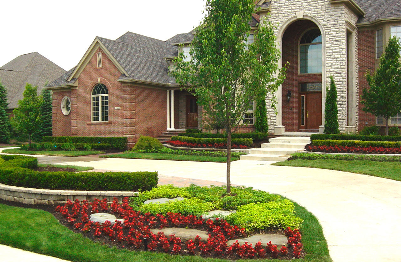 Awesome Front Yard Landscape Plans - HomesFeed on Pretty Yard Ideas id=49844