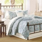 Beautiful White Blue Patterned Design Of Harbour House Bedding