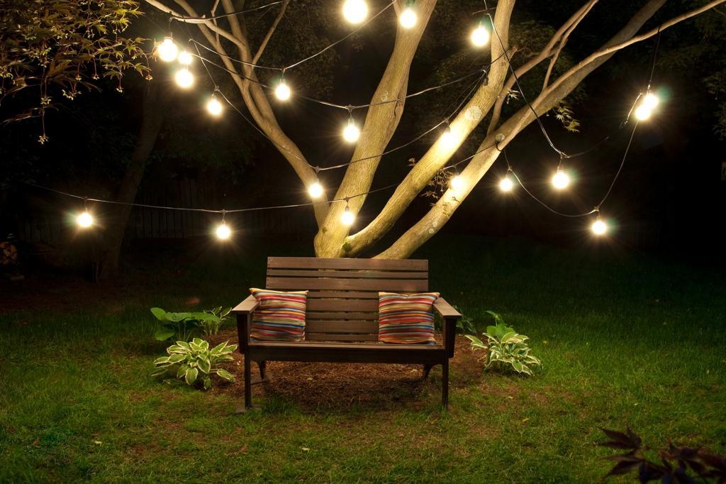 Vintage Outdoor String Lights Ideas - HomesFeed on Backyard String Light Designs id=74760
