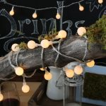 Beautiful white string bulbs in vintage for outdoor