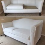 Before After White Slipcovers For Leather Couches