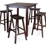 Best High Top Tables Ikea With Wooden Style And Four Chairs