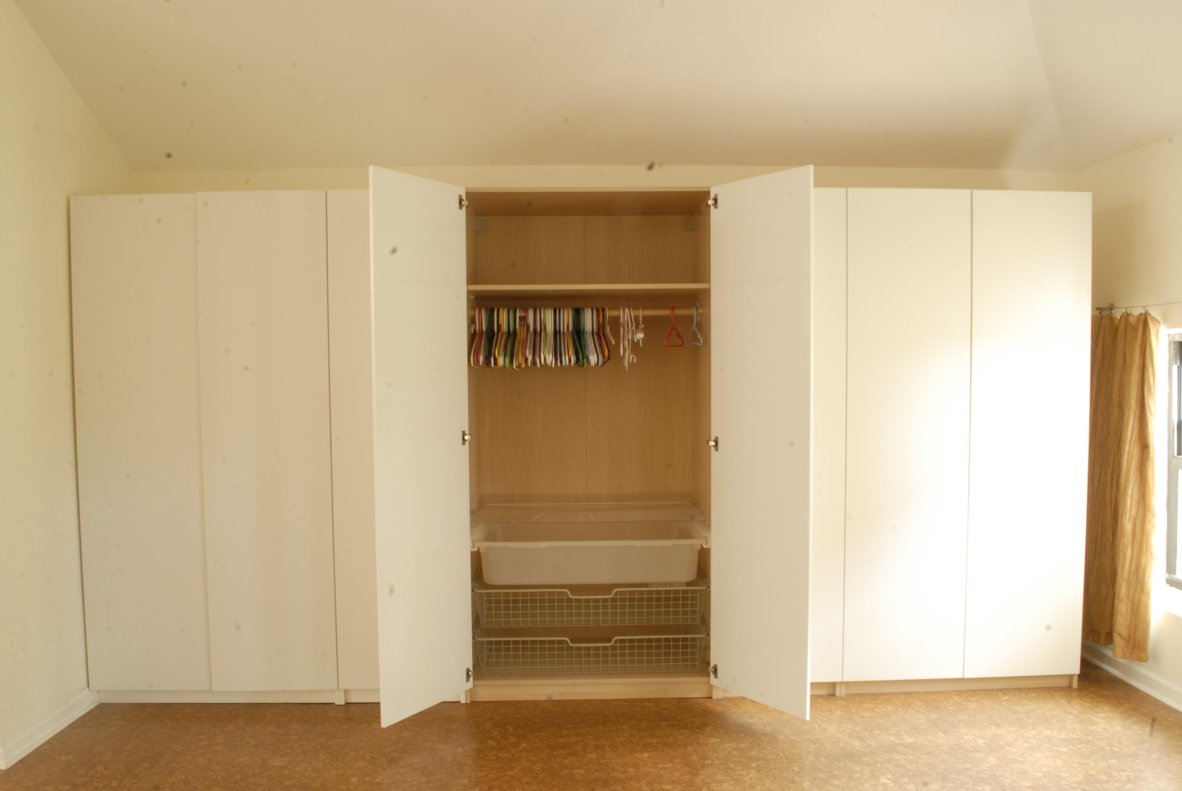 And Large White Closet Storage Cabinet