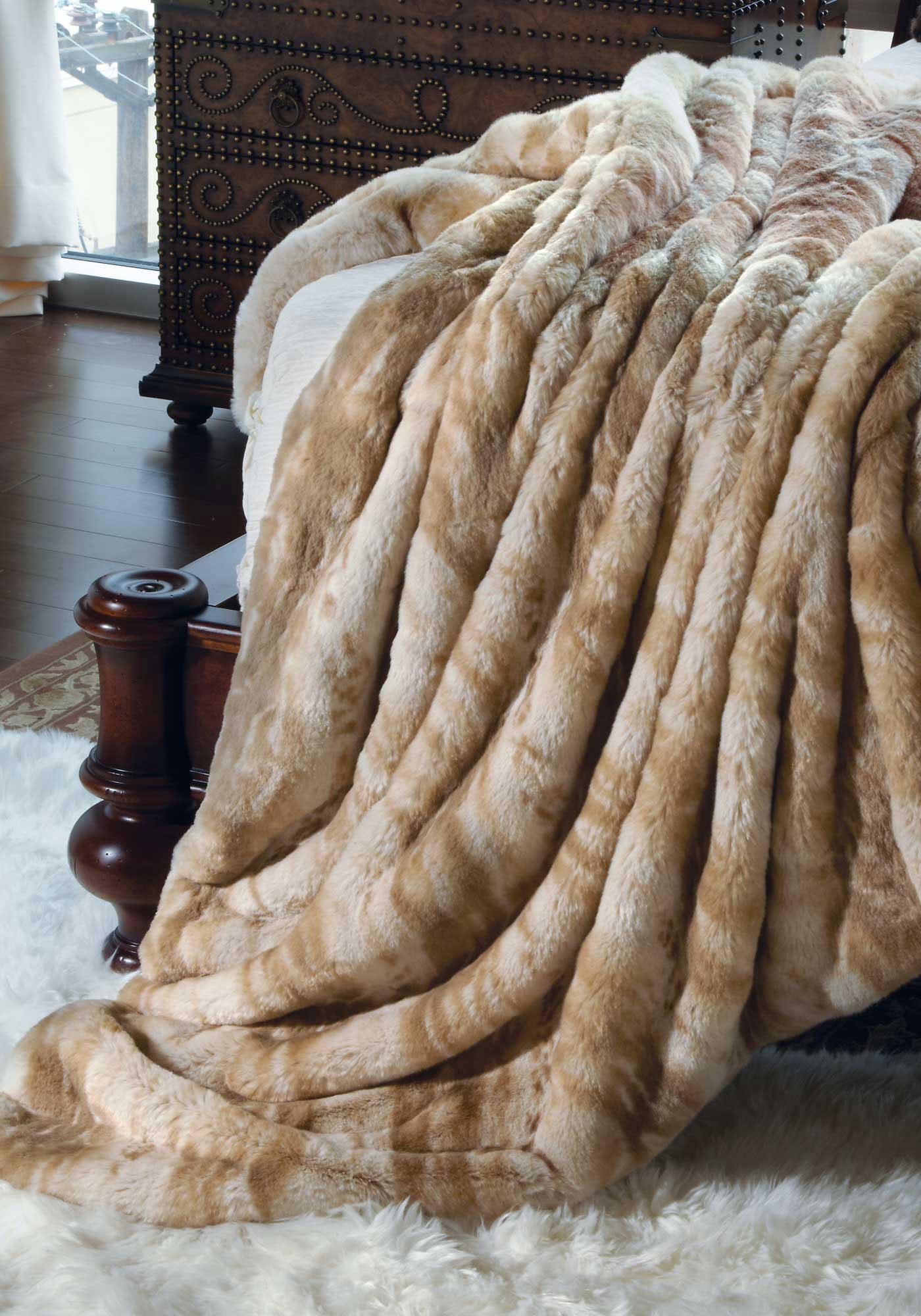 Luxury Hotel Room Design: Luxury Faux Fur Blanket Queen