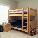 Boys Small Bunk Beds For Toddlers With Blue Beds And Small Cabinet